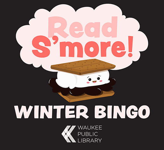 an image of the Waukee Public Library's winter reading bingo logo