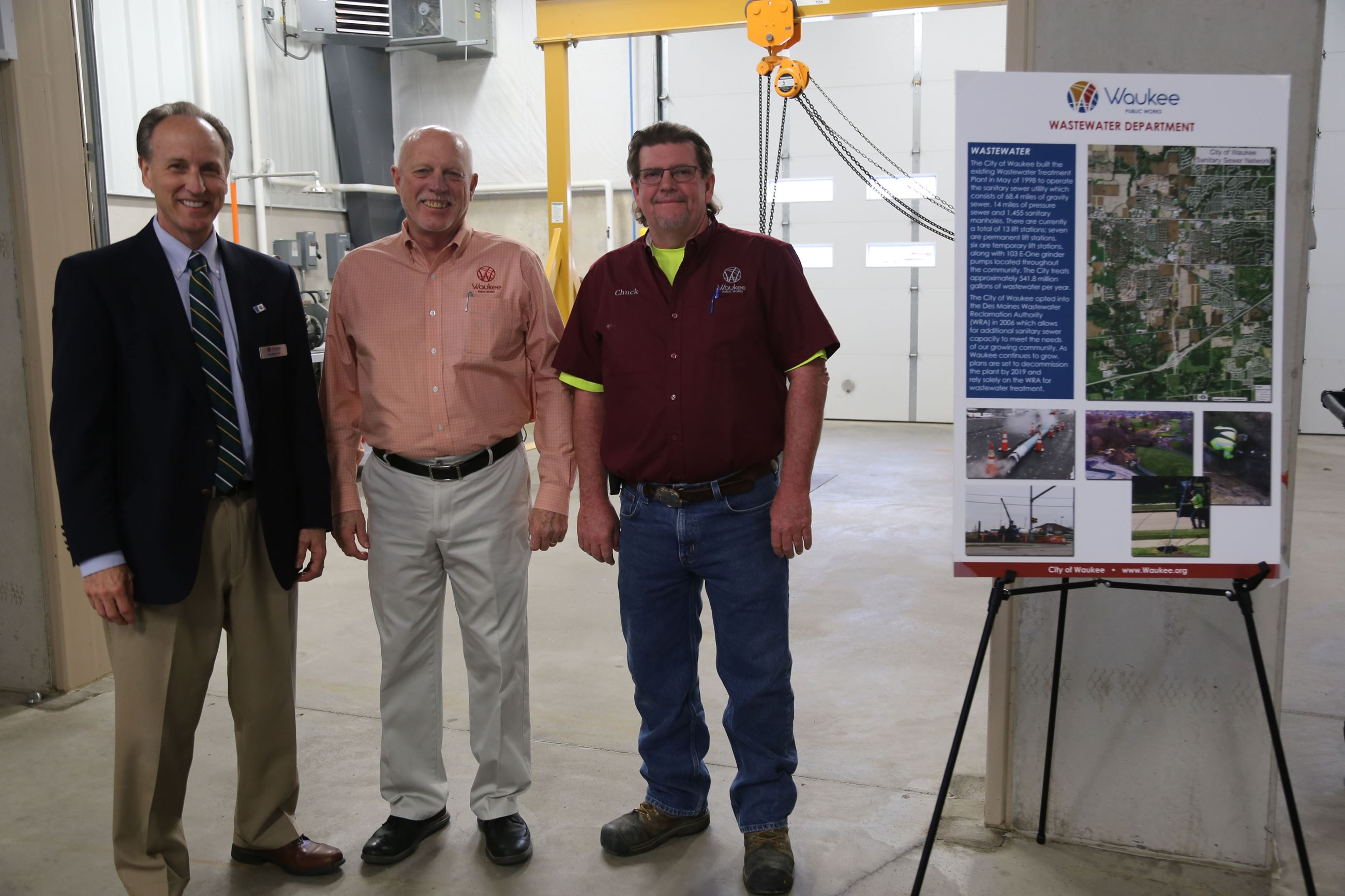 City Admin Tim Moerman, Public Works Director John Gibson, Water-WasterWater Superintendent Chuck Wa