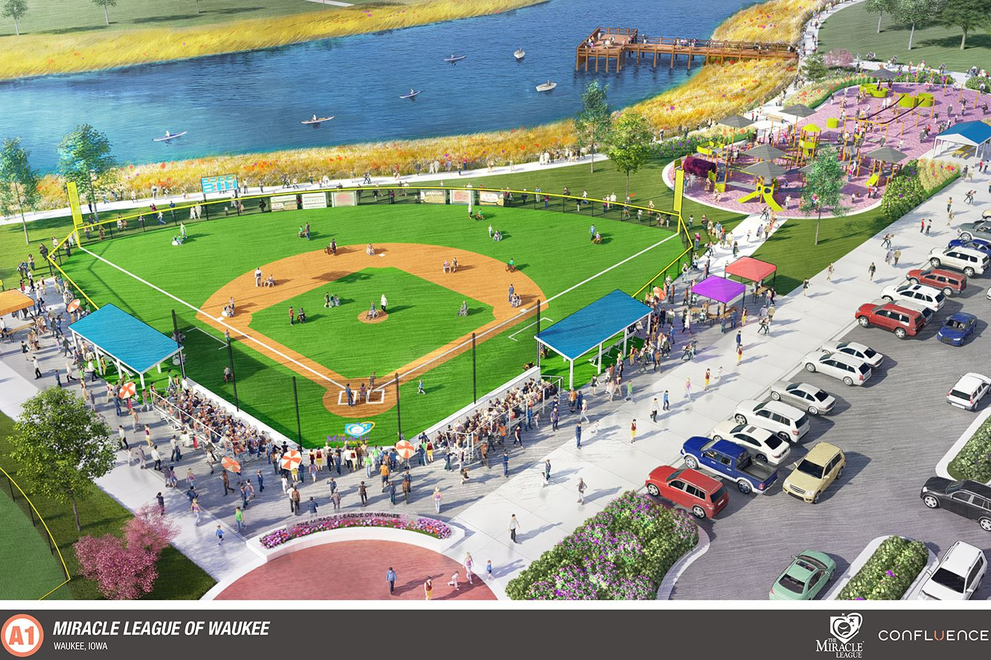 miracle league park and pier rendering