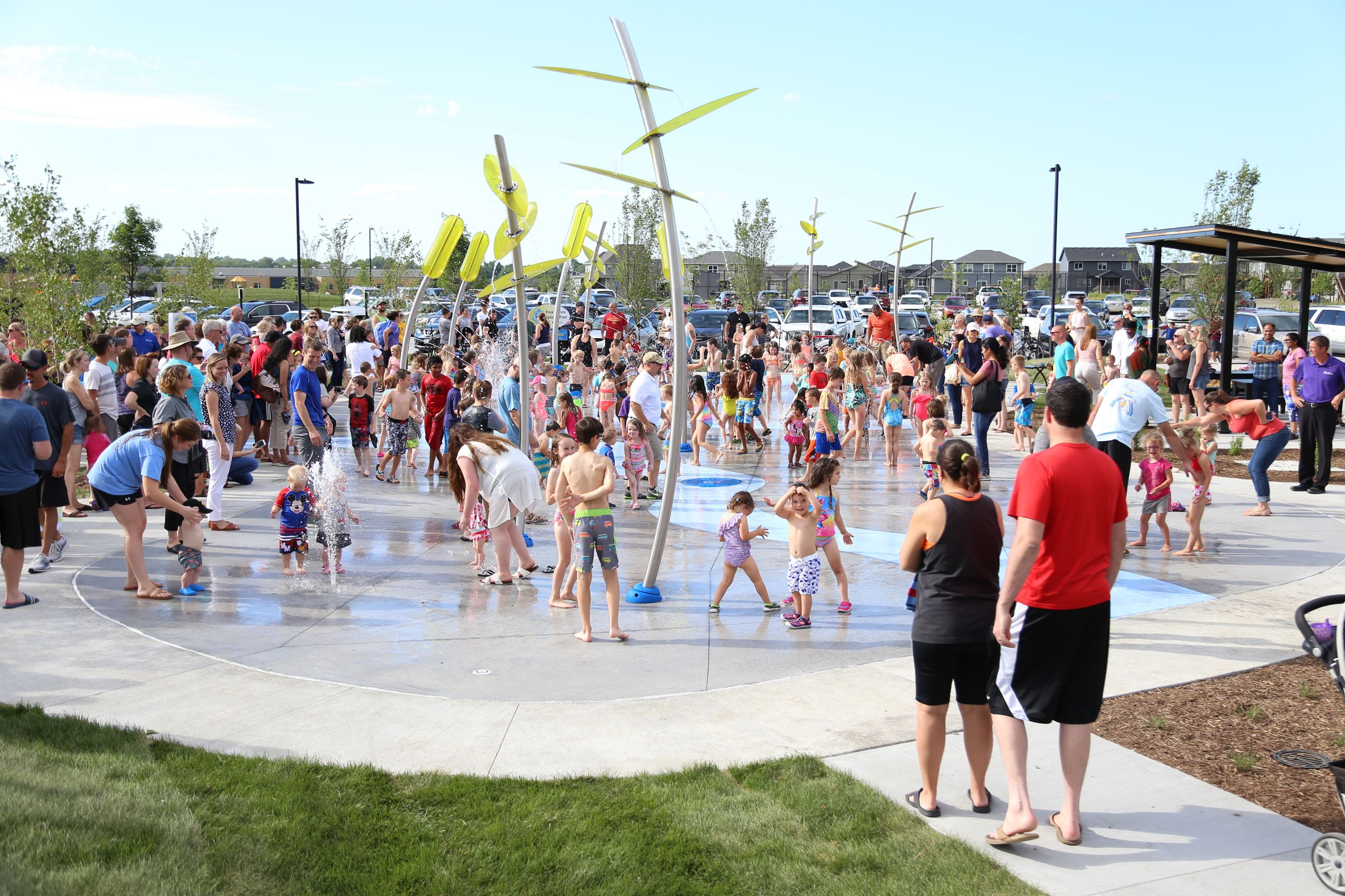 fox creek splash pad opening day