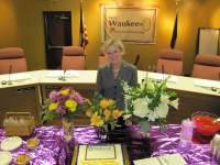 Reception for outgoing Council Member Stanton