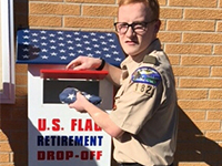 flag drop box for web